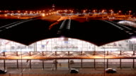 Time Lapse Video of Airport Terminal video
