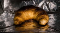 Time Lapse video of Baking Croissant until it's scorched video
