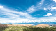 Time lapse video of beautiful scenic cloudscape over Rocky Mountains in Los Alamos New Mexico video