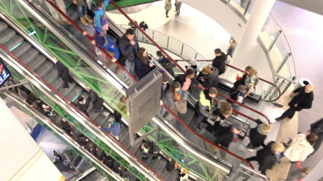 Time lapse video of escalator in 4K video