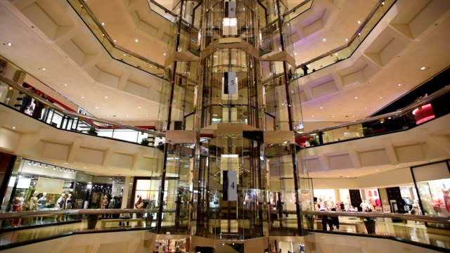 Time lapse video of escalators in shopping mall video