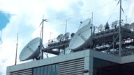 Time lapse video of television broadcasting station in 4K video