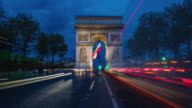 Time lapse video of traffic at Paris video