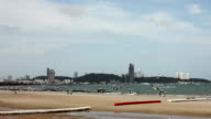 Time Lapse video recorder on the PATTAYA beach in the morning. video