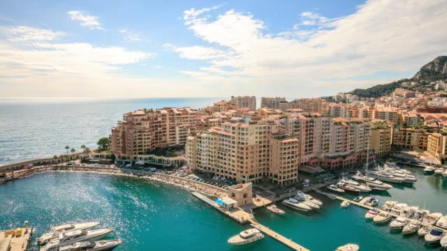 4K Time Lapse : View in harbor of Monaco video