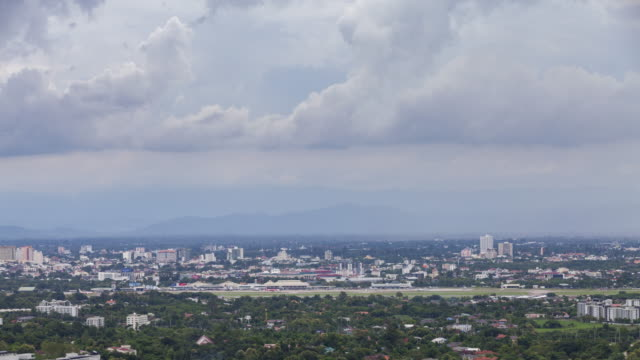 Time lapse view of clouds over Chiang Mai cityscape, northern Thailand. video