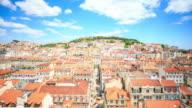 4K Time Lapse : View of Lisbon video
