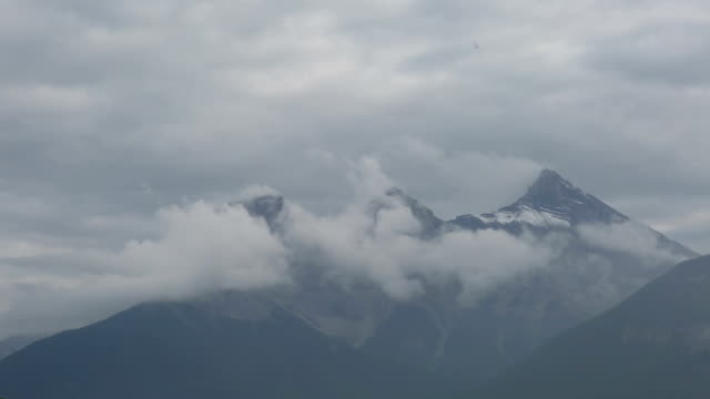Time lapse view of mountains and storm clouds video