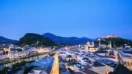 4K Time Lapse : view of Salzburg video