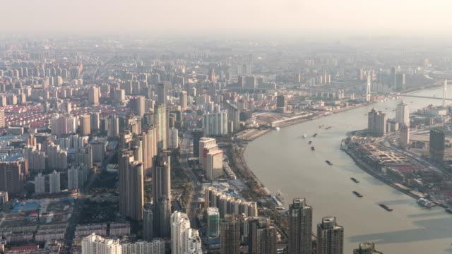 Time Lapse View of Shanghai Skyline / Shanghai, China video