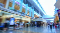 4K Time Lapse : Walking in airport video