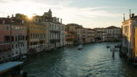 Time Lapse, water transportation at Grand Canal, Venice video