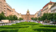 4K Time Lapse : Wenceslas square and National Museum video