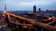 Time Lapse - Yangpu Bridge from Day to Night video