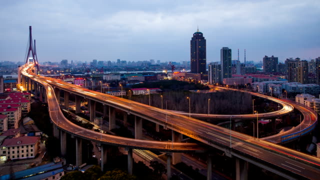 Time Lapse - Yangpu Bridge from Day to Night video