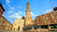 4K Time Lapse : Zaragoza Cathedral, Spain video