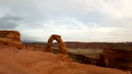 Time lapse zoom in Delicate Arch Utah video