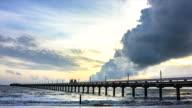 Time lapse zoom in landscape Sunrise Beach video
