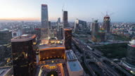 Time Lapse-Beijing Central Business District from Day to Night video