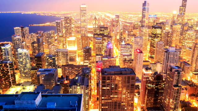 HD Time lapse:Chicago Skyline video