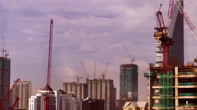 Time lapse-Construction Site video