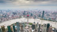 Time Lapse-Elevated view of  shanghai skyline video