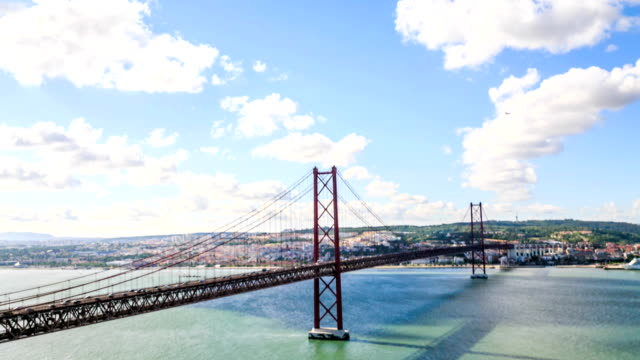 Time lapse:Lisbon Bridge - April 25th, Old Salazar Bridge, Portugal video