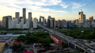 Time Lapse-Night on Beijing Central Business district buildings skyline video