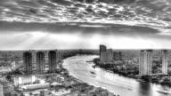 Time Lapse,Urban scene Black and white video
