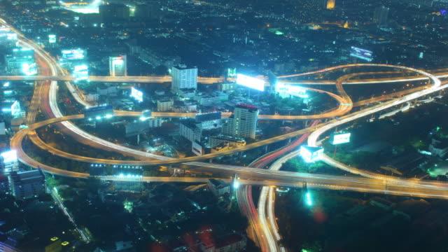 Time lapse,Urban scene Night video