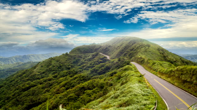 time laspe of beautiful sky and mountain landscape, Taiwan video