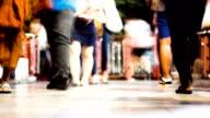 Time lasps-walking people video