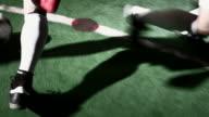 Time remapped soccer dribbling video