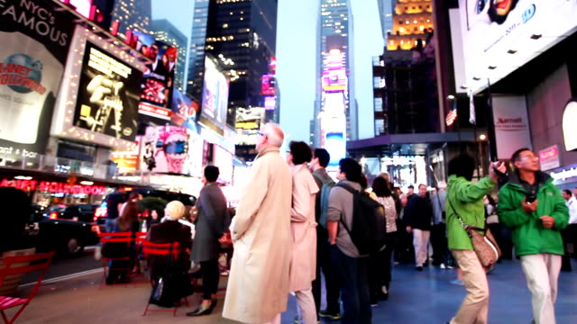 Time Square Broadway New York Crowd video