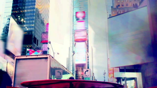 MULTI EXPOSURE - Time Square Crowd New York video