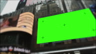 Time Square New York City Manhattan at day Green screen video