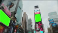 Time Square New York City Manhattan Chromakey with tracking marks video