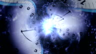 Time Travel Concept, Clocks Tunnel Background video