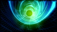 Time tunnel style background - HD video