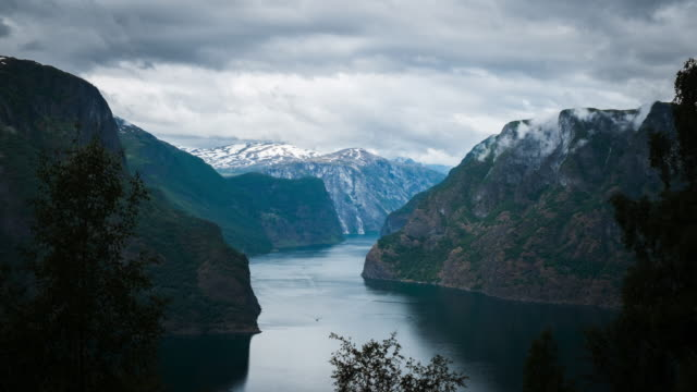 4K Timelapes : Beautiful Fjord Scenery - Stock Video video