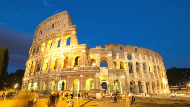 HD Timelapes : Colosseum at dusk, Rome, Italy video