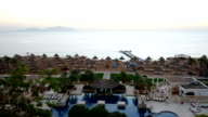 Timelaps of sunrise and beach at the luxury hotel video