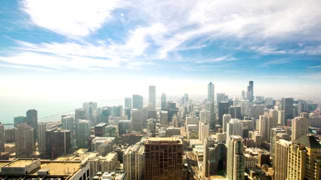 HD Time-lapse: Aerial Chicago Skyline Cityscape USA video