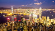 HD Time-lapse: Aerial Hong Kong Skyline Cityscape video