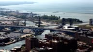 Timelapse aerial in Cleveland, Ohio video