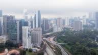4K Time-Lapse: Aerial Kuala Lumpur Cityscape video