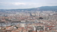 Time-lapse: Aerial Marseille city with old Vieux Port video