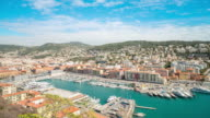 Time-lapse: Aerial Nice Marina Port French Riviera France video