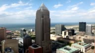 Timelapse aerial of Cleveland, Ohio video