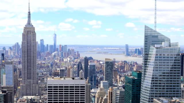 Timelapse aerial of Manhattan, New York video